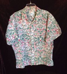 60bd0382f6d Kahala XL Men s Hawaiian Shirt Reverse Print Multi-Color Cotton Blend   Kahala… Mens