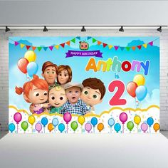 Cocomelon Baby Picture Youtube Back Drop Backdrop Birthday Banner Party Theme Happy Birthday Anthony, 2nd Birthday Party For Boys, Baby Shower Decorations For Boys, Birthday Party Decorations, Birthday Party Photography, Birthday Backdrop, Baby Time, Cake Smash, Logan