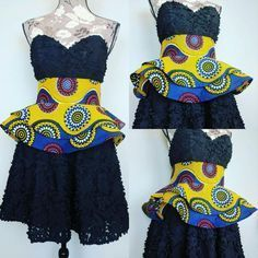 African Print Double Peplum Belts by TheSewinista on Etsy African Dresses For Women, African Print Dresses, African Attire, African Wear, African Women, African Fashion Ankara, Ghanaian Fashion, African Print Fashion, Africa Fashion