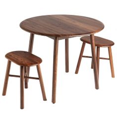 Biscuit Round Table - Black Walnut - Environment