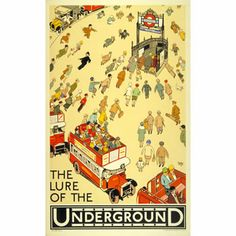 The Lure of the Underground - Alfred Leete (1927)