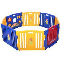 Baby-Playpen-Kids-8-Panel-Safety-Play-Center-Yard-Home-Indoor-Outdoor-Pen