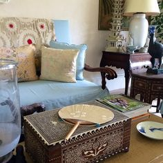 Bunny Williams design ikat throw for back of sofa