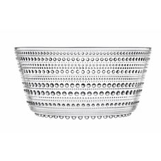 Fab.com | Kastehelmi Serving Bowl Clear. Designed by Oiva Toikka in 1964