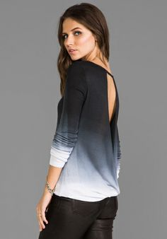 SAINT GRACE Raya Open-Back Top in Black Ombre - Tops