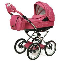 Knorr Baby Classico Pram Stroller Air Tyres pink - Collection 2014