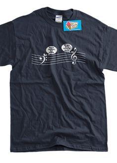Treble Down Music T-Shirt Tee Shirt T Shirt Mens Ladies Womens Youth Kids Funny Geek