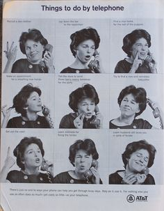 """""""Things to do by telephone"""" - AT&T ad from 1966."""