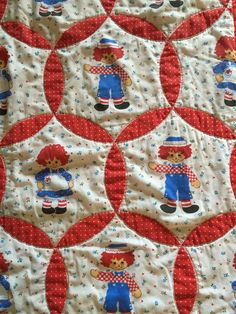 Raggedy Ann Quilt - Youth or Crib Quilt; Hand Made Crazy Patch ... : raggedy ann quilt pattern - Adamdwight.com