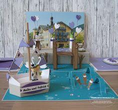 Hochzeit Tegernsee Geschenkbox Überraschungsbox Explosionsbox Standesamt
