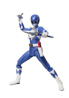 """Amazon.com : Bandai Tamashii Nations S.H. Figuarts Mighty Morphin Blue Ranger """"Mighty Morhin Power Rangers"""" Action Figure : Toys & Games"""