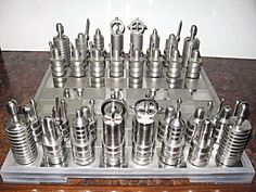Stainless chess set.