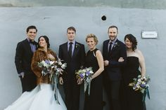 bridal party - photo by Karen Kristian Photography http://ruffledblog.com/smoke-and-mirrors-wedding-inspiration