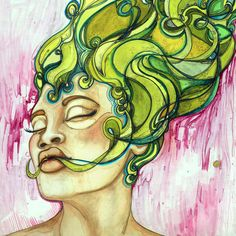 love the green hair