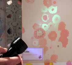 glow in the dark wallpaper! I want some. And, it is soooo pretty!!!!!!!!!