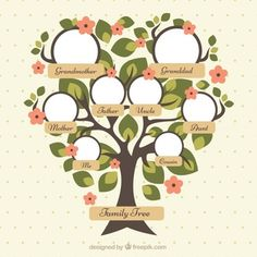 Family Tree Images, Family Tree For Kids, Trees For Kids, Blank Family Tree, Family Tree Designs, Family Tree Art, Family Tree Drawing, Tree Clipart, Tree Templates