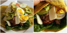 Healthy lunch with egg wrap. Egg Wrap, Halloumi, Bacon, Appetizers, Eggs, Lunch, Healthy Recipes, Ethnic Recipes, Food