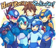 #Dessin anniversaire Rockman par pnpnonk04