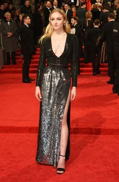 Sophie Turner wearing custom Louis Vuitton attends the 70th EE British Academy Film Awards (BAFTA) at Royal Albert Hall on February 12, 2017 in London, England.