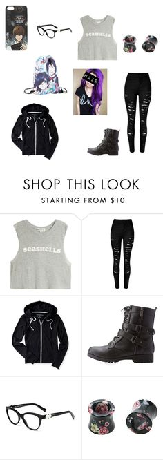 """Untitled #8"" by emobutterflymoth ❤ liked on Polyvore featuring Wildfox, Aéropostale and Bamboo"
