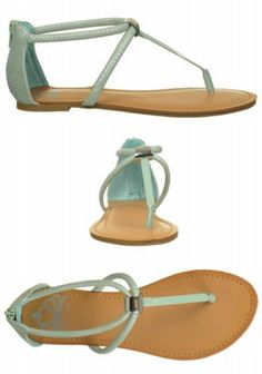 "The divine #Fergalicious ""Surriana"" #mint #sandals #famousfootwear"