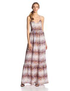 Cornelia Scatter Print Silk Maxi Dress by Parker