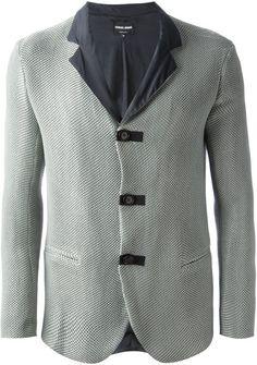 4cbf9180b92 Giorgio Armani - Gray Techno Jacket for Men - Lyst