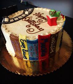 Book Worm Birthday Cake