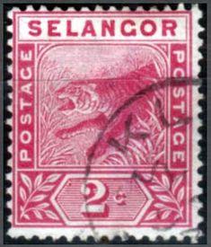 Selangor 1891 Tiger Fine Used SG 50 Scott 25 Other Selangor Stamps HERE