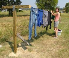 How To Build A Clothesline How We Built A Simple But Sturdy Diy Clothesline For Under $10