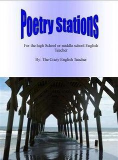 My top seller! This is an engaging and entertaining formative assessment. With a little preparation and careful instructions, students can rotate through several poetry based activities with simply a rotate from the teacher every minutes. Middle School Reading, Middle School English, English Class, Ap English, Top Art Schools, Poetry Lessons, Poetry Unit, Teaching Poetry, Learning Stations