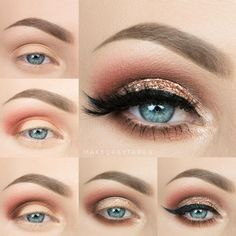 """""""Here is a pictorial I put together for you guys, from my look last night featuring @beautybarbaby Glitter in """"Happily Ever After"""" remember you can use…"""""""