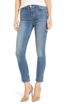 Hudson Holly High Waist Ankle Skinny Jeans In Babyface Hudson Jeans, Super Skinny Jeans, Jeans Style, Stretch Denim, Nordstrom, Ankle, Pants, Clothes, Shopping