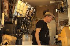 The coffee guy at Apostelnkloster market, Cologne / Germany