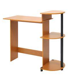 Look what I found on #zulily! Light Cherry Compact Computer Desk #zulilyfinds