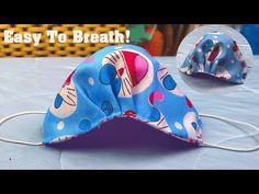 New Design - Breathable Face Mask Tutorial|It doesn't touch mouth and nose @DIY TrefaY - YouTube Face Masks For Kids, Easy Face Masks, Diy Face Mask, Sewing Hacks, Sewing Tutorials, Sewing Projects, Tutorial Sewing, Purse Tutorial, Bag Tutorials