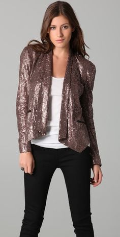 Rebecca Minkoff Becky Sequined Jacket #fashion #style #womens