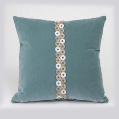 Winner's Circle Blue Velvet Pillow - Abingdon Duchess Collection from Dorm Redefined