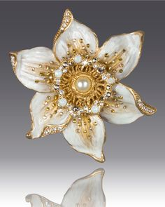 Jay Strongwater Daffodil Pin