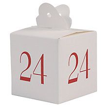 Buy East of India Christmas Advent Calendar Boxes, White Online at johnlewis.com