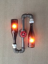 Bottle lamp from Peared Creation