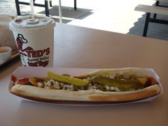 """Ted's"" is an institution in the Buffalo area. Sahlen's hotdogs cooked over charcoal heat - simple perfection, great onion rings & logan berry juice! Hot Dog Buns, Hot Dogs, North Tonawanda, Ny Food, Berry Juice, Childhood Days, Onion Rings, Niagara Falls, Buffalo"