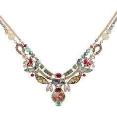 Ayala Bar Madame Magnolia Necklace ($239) ❤ liked on Polyvore featuring jewelry, necklaces, ayala bar, ayala bar jewelry, ayala bar jewellery and ayala bar necklace