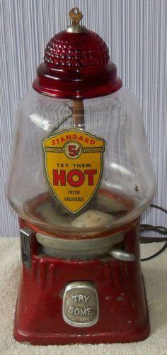 Vintage Silver King 5 Cent Hot Nut Machine Peanut Gumballl Gum Vending 1940'S   eBay