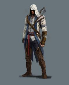 View an image titled 'Connor Concept Art' in our Assassin's Creed III art gallery featuring official character designs, concept art, and promo pictures. Assassin's Creed 3, Assassins Creed Costume, Assassins Creed Art, Assasins Cred, Assassin's Creed Videos, Best Art Books, Connor Kenway, Assassin's Creed Wallpaper, Character Art