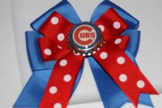 Chicago Cubs Cubs Hair Bow Cubs Bow Chicago Cubs fans by bowsforme, $7.00
