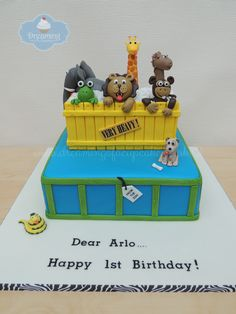 Dreaming Of A Cupcake specialise in bespoke birthday, anniversary and novelty cakes in Eastleigh, Southampton and Hampshire. Zoo Birthday Cake, Animal Birthday Cakes, 1st Birthday Parties, Birthday Ideas, Dear Zoo Cake, Dear Zoo Party, Birthday Cake Pinterest, Happy 1st Birthdays, Cake Ideas