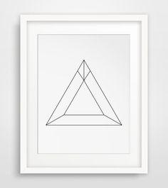 Minimalist Geometric Triangle Wall Art, Minimalist Home Decor, Geometric Wall Print, Geometric Triangle, Geometric Print, Minimalist Print