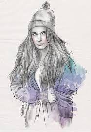 Картинки по запросу рисунки девушки
