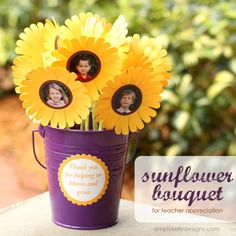Give a sunflower bouquet that your child's teacher can keep forever for teacher appreciation